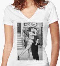Zack & Kelly BW Women's Fitted V-Neck T-Shirt