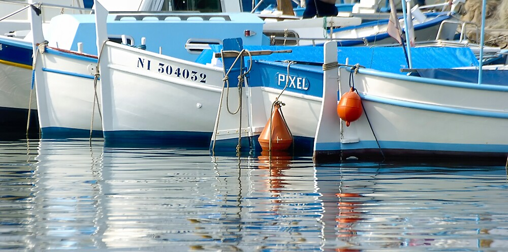 Blue boats by andyw