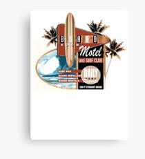 surf motel Canvas Print
