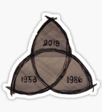Dark - past present future Sticker