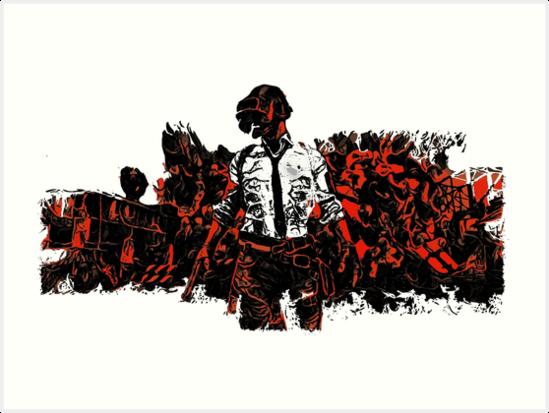 Pubg Kunstdrucke Von Duallist Redbubble