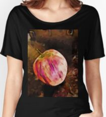 Pink and Orange Apple Women's Relaxed Fit T-Shirt