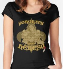 Sorority against Heresy - Flat Edition Women's Fitted Scoop T-Shirt
