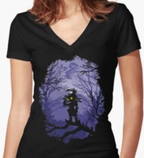 Zelda Majora's Mask Skullkid  Women's Fitted V-Neck T-Shirt