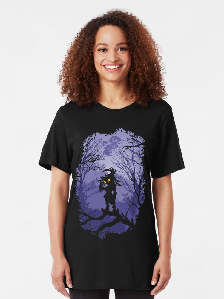 Vista alternativa de Camiseta ajustada Máscara de Zelda Majora Skullkid