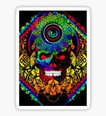 Trippy Skull Design - Graphic T-Shirt/Leggings/Pillow/And More! Sticker