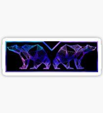 Polar Bear Aesthetic Geometric Design Sticker
