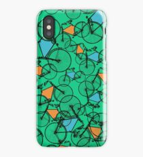 BICYCLES in green, orange & blue iPhone Case/Skin