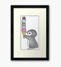 Ice Cream Penguin Framed Print
