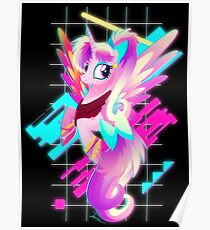 Synthwave Princess Cadance Poster
