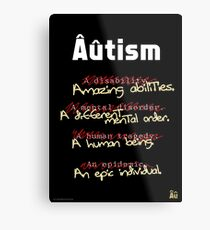 Autism - A Corrected List Metal Print