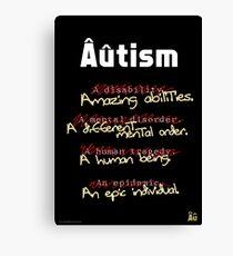 Autism - A Corrected List Canvas Print