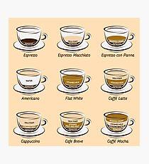 Kaffee Fotodruck