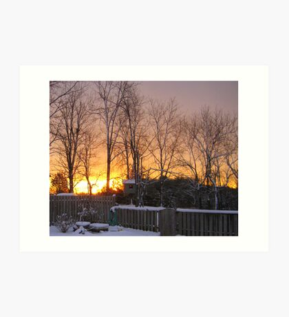 Early Morning Sun and Snow Art Print