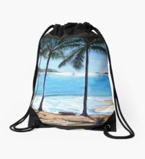 Long Island Beach, Australia Drawstring Bag