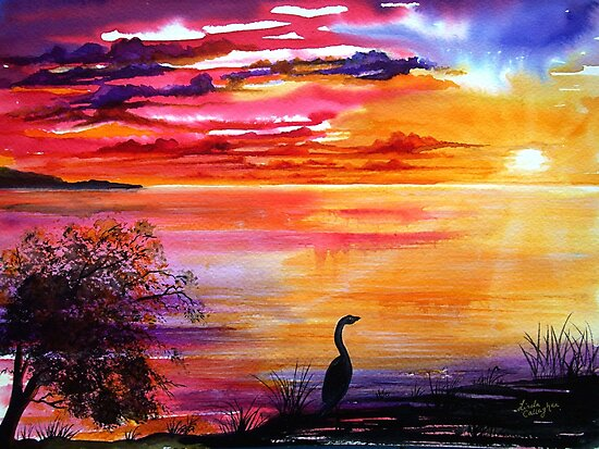 Colours of Sunset   by Linda Callaghan