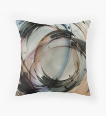 Paper Weight Multiple Exposure - Color Throw Pillow
