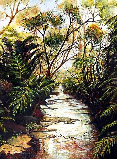 Katoomba Creek, Blue Mountains Australia by Linda Callaghan