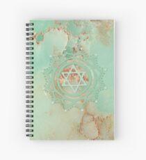 Heart chakra & jadeite stone Spiral Notebook