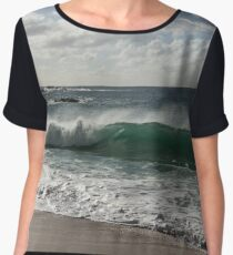 Big Wave at Waimea Bay Beach, North Shore, Oahu, Hawaii Women's Chiffon Top