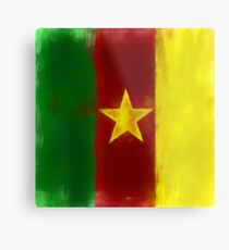 Cameroon Flag Reworked No. 1, Series 1 Metal Print