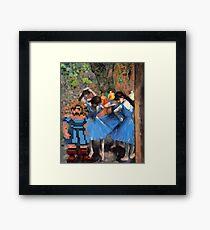 Guybrush dancer in blue Framed Print