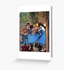 Guybrush dancer in blue Greeting Card