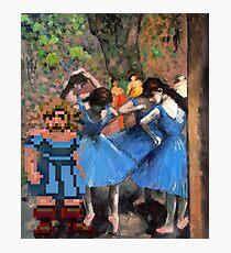 Guybrush dancer in blue Photographic Print