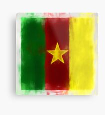 Cameroon Flag Reworked No. 2, Series 1 Metal Print