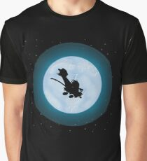 Calvin Hobbes Moon Graphic T-Shirt