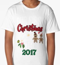Our First Christmas As Mr. And Mrs. 2017 Long T-Shirt