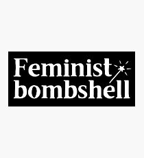 feminist bombshell (with magic wand) Photographic Print