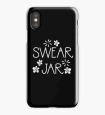 SWEAR JAR (with cute flowers) iPhone Case/Skin