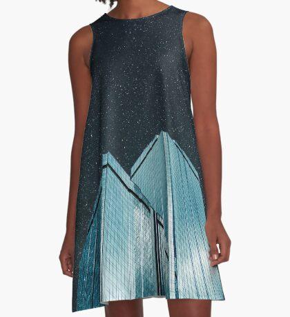 Stadt aus Glas (1983) A-Linien Kleid