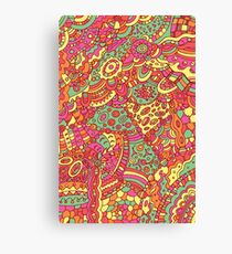 Psychedelic doodle pattern Canvas Print