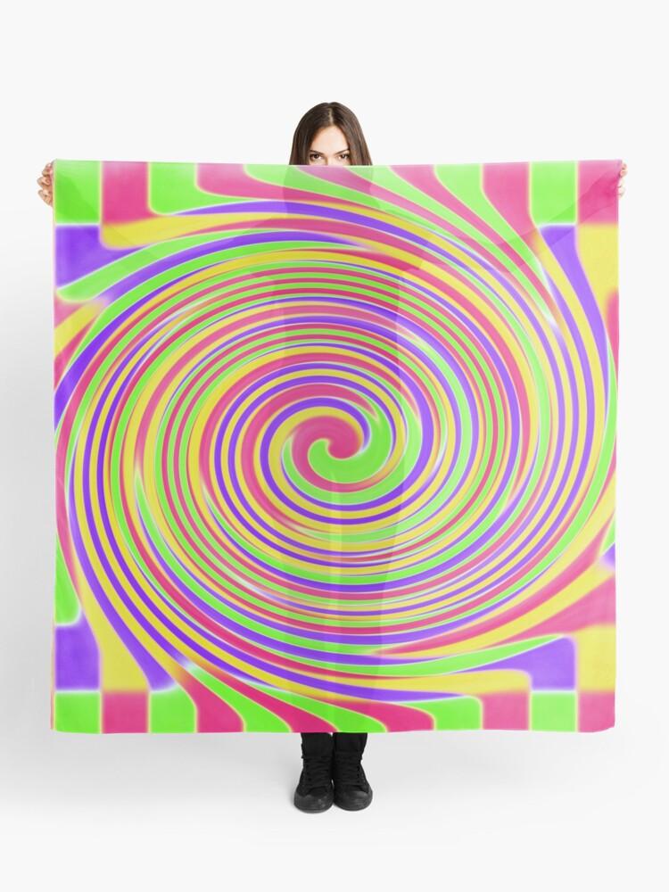 Bright Blocks Checkered Twirl Scarf By Sammygirls Redbubble