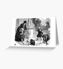 A Victorian Child's First Snowfall Greeting Card