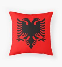 ALBANIA, Black Eagle on Red, Albanian Flag, Flag of Albania, Tale of the Eagle Kissen