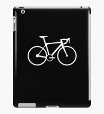 Bicycle, Racing Bike, Road Bike, Racing Bicycle, White on Black iPad Case/Skin