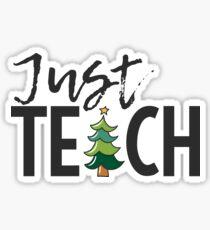 Just Teach! Sticker