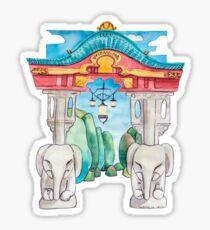 Elefantentor aus Berlin Tiergarten in Aquarell illustriert Sticker
