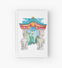 Elefantentor aus Berlin Tiergarten in Aquarell illustriert Notizbuch