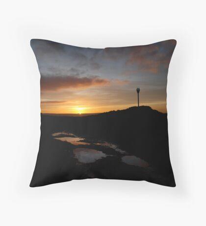 Sunset at Danby Beacon Throw Pillow