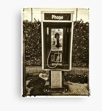 Short Stack Phone Booth Canvas Print
