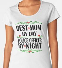 Police Officer Mother Birthday Best Mom, Night Shift Women's Premium T-Shirt