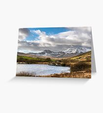 Mountain Landscape Snowdonia Greeting Card