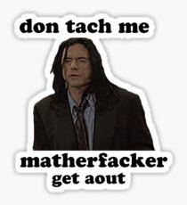 Pegatina No me toques la habitación