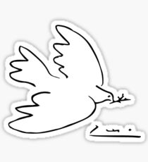 Picasso Peace Dove Sticker