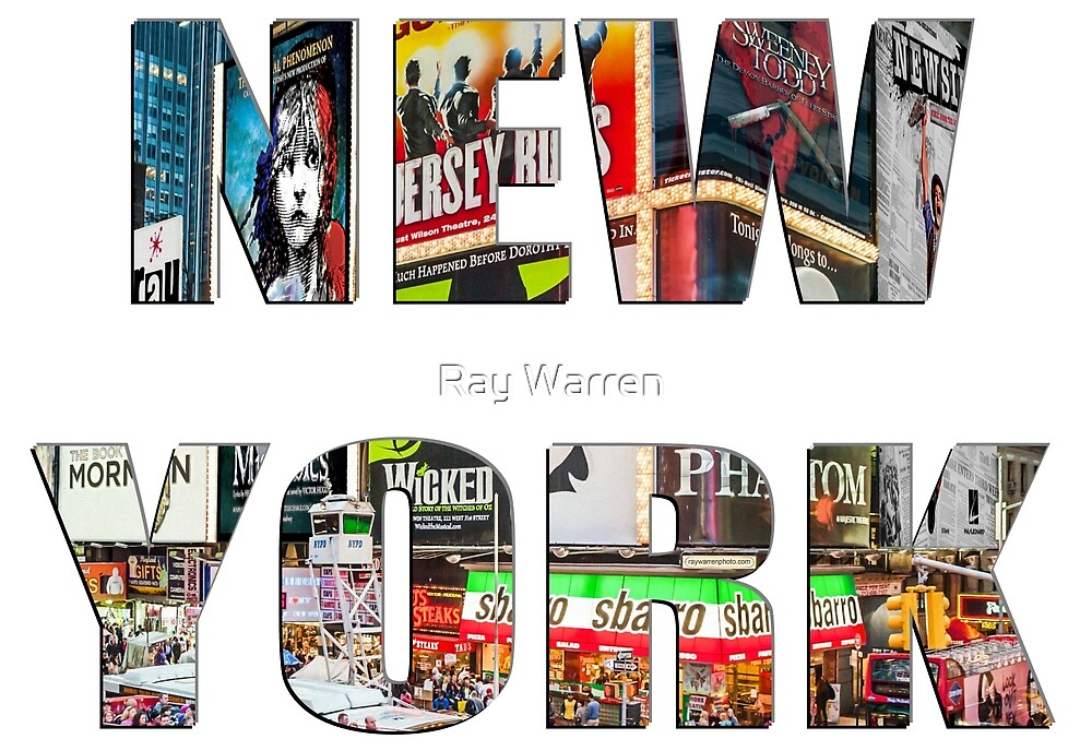 New York (lettering) by Ray Warren