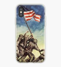 Iwo Jima, American, War, POSTER, USA, Raising the Colours, America, Americana, WW2, WWII iPhone Case
